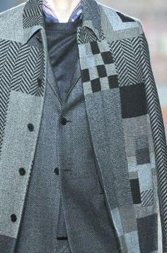 patternprints journal: PRINTS, PATTERNS, TEXTURES AND DETAILS FROM THE RECENT PARIS FASHION WEEK (FALL/WINTER 2014/15 MENSWEAR) / 7