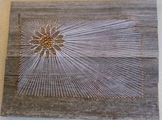 Custom State String Art with State Flower on Rustic, Reclaimed Barn Wood for Kansas or Any State