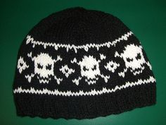 Knit Pirate hat. Pattern $2.