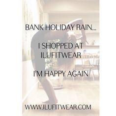 #bankholidayweekend #raining so how about #retailtherapy shopping at #ILU www.ilufitwear.com #leggings #croptops #fitnessVests #jackets and lots more #apparel #athleisure #yogapants #pilatesleggings #maternityfashion #maternityleggings