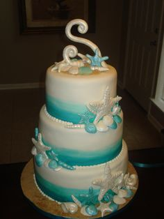 Mermaid theme cake Under the sea cake Under the sea or under the