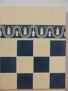 Handmade encaustic tiles, 10x10 cm format. W1002 dark red, W1017 ...