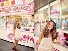 Adore the fun background mixed with the earthy look of her hair/clothes/makeup Carnival Photography, Fair Photography, Senior Portrait Photography, Senior Portraits, Memories Photography, Creative Photography, Senior Girl Poses, Senior Girls, Senior Pictures