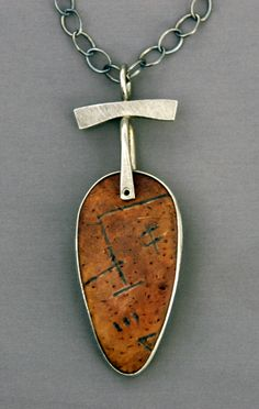 Mirinda Kossoff - sterling and carved and stained polymer