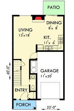 Plan 38027LB: Triplex House Plan with 3 Bedroom Units