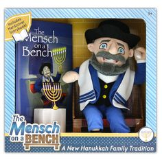 The Jewish alternative to elf on a shelf = mensch on a bench, $36 @ themenschonabench.com #elfonashelf