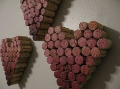 Ombre Heart Wine Cork Wall Hanging Decor by thevinecorkdesigns, $43.00