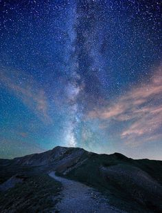 Trail to the Milky Way by mengzhonghua Monday, 24th September 2012 This picture was taken at the top of Loveland Pass which is the highest mountain pass in the world that regularly stays open during a snowy winter season.