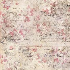 Vintage Floral Shabby Chic Background With Script Stock Photo - Image of grungy, chic: 103594434