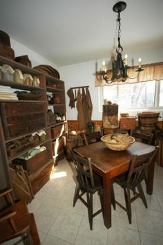 Early Primitive Dining Rooms by claire