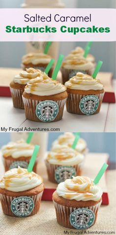 Salted Caramel Starbucks Cupcaks