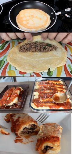 PANQUECA DE CARNE MOÍDA DELICIOSA! #panqueca #panquecadecarne#comida #culinaria #gastromina #receita #receitas #receitafacil #chef #receitasfaceis #receitasrapidas