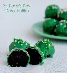 St Patricks Day Oreo Truffles