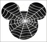 Mickey Mouse Spider web INSTANT DOWNLOAD Halloween digital clip art :: My Heart Has Ears