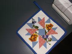 môj prvý pokus o drobný vzor na patchworku.