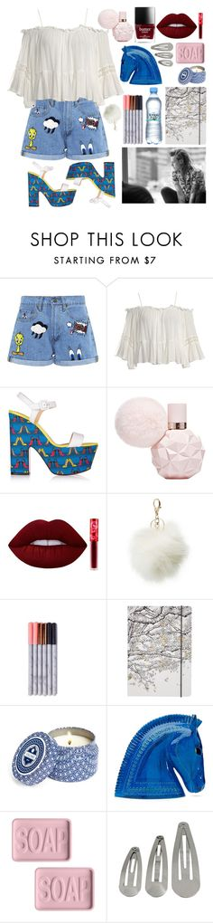 """Untitled #481"" by fjannah ❤ liked on Polyvore featuring Paul & Joe Sister, Sans Souci, Christian Louboutin, Lime Crime, Charlotte Russe, Go Stationery, Capri Blue, Bitossi and Dot & Bo"