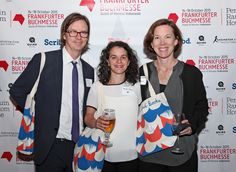 """Publishers Weekly and the Frankfurt Book Fair held a party last night in New York City's to celebrate the 40 honorees in the first Star Watch program. Pictured (l. to r.), Geoff Kloske, v-p, publisher, Riverhead Books; Helen Yentus, art director of Riverhead Books; and Madeline McIntosh, president of the Penguin Publishing Group. Yentus was chosen as this year's """"superstar"""" and will receive an all-expense paid trip to the Frankfurt Book fair courtesy of Frankfurt officials. Photo: Nancy…"""