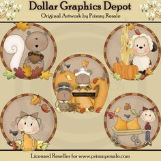 Fall Scenes - Clip Art - $1.00 : Dollar Graphics Depot, Quality Graphics ~ Discount Prices