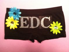 Hippie rave festival EDC costume outfit dance shorts by 2girls2Tus, $29.00