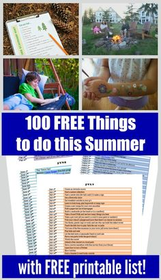 TONS of great FREE summer outdoor activities to do close to home (+ a free printable list too) - enjoy time with kids, plan a family staycation! Activities Near Me, Summer Activities For Kids, Family Activities, Outdoor Activities, Reading Programs For Kids, Summer Reading Program, Free Summer, Summer Kids, Summer Science