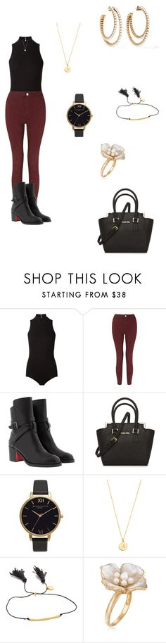 """Untitled #500"" by paty8797 ❤ liked on Polyvore featuring Fleur du Mal, Miss Selfridge, Christian Louboutin, Calvin Klein, Olivia Burton, Kate Spade, Gorjana, Ross-Simons and Marc Jacobs"