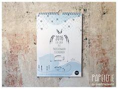 Wandkalender Familienplaner 2016 Zeichnungen 5 Spl von Maedchenwahn auf DaWanda.com