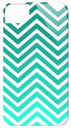 Just Chevron Ombre Teal Phone Case / Vintage Printage