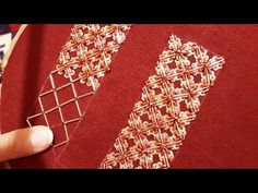حصري تنبات جنب السفيفة بشكل جديد جميييييل جدا و راقي - YouTube Zardosi Embroidery, Hand Embroidery Dress, Tambour Embroidery, Hand Embroidery Videos, Embroidery Stitches Tutorial, Bead Embroidery Patterns, Couture Embroidery, Embroidery Techniques, Beaded Embroidery