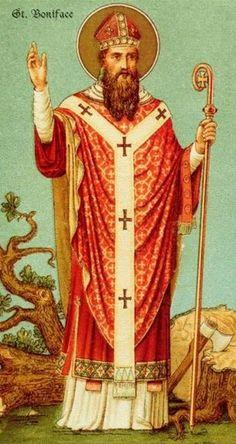 5 juin : Saint Boniface, Archevêque de Mayence, Martyr (680-754)