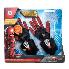 Get ready for web-slinging playtime action with these awesome Spider-Man webshooter gloves! The detailed gloves feature light-up web projectors and built-in shooters that can fire darts up to 10 feet. Disney Store Uk, Disney Home, Arma Nerf, Best Christmas Toys, Lego Custom Minifigures, Project Red, Pokemon, How To Make Animations, Action Figures