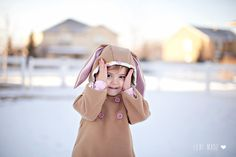 bunny hooded swing coat using two different patterns / lexi made