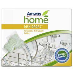 Detergente en Pastillas para Lavavajillas Dish Drops™ | Amway Una cómoda pastilla en un envoltorio soluble, que ofrece acciones limpiadoras esenciales para lograr grandes resultados en máquinas lavavajillas. La revolucionaria fórmula derivada de ingredientes naturales y libre de fosfatos, con oxígeno activo y enzimas dobles, ataca la suciedad de la vajilla con un impacto de acción múltiple. www.amway.es/user/beatrizrodriguez