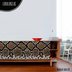 Vinilo para muebles de televisión con impresión de piel de serpiente #lokolokodecora