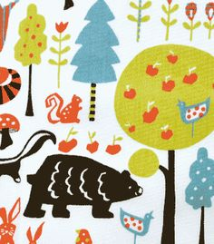 """Swedish Forest"" print, adorable for anything from pajama pants to a button-down top!"