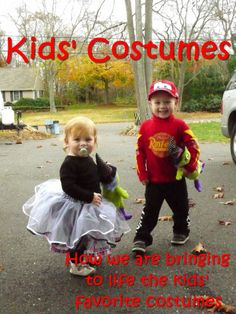 Kids' costumes...  Lightning McQueen, Tutus, Super Hero capes, runDisney shirts, etc  Tutorials and DIY instructions via Lily & Frog at www.lilyandfrog.com