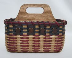 Organizer Caddy / Divided Basket / Silverware Basket by JGBaskets, $36.00