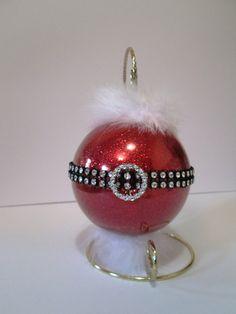 Santa Claus  Glass Ornament  Large by CreativeGlassByBecky on Etsy,