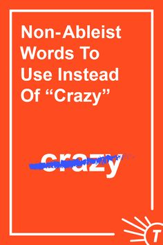 """We live in a crazy world, but it's also topsy-turvy and unpredictable. With all the different uses of """"crazy,"""" here's a useful list of words to use instead. Words To Use, Cool Words, Synonyms For Crazy, Improve Your Vocabulary, Mental Health Advocate, Thinking Of Someone, Latin Words, Words To Describe"""