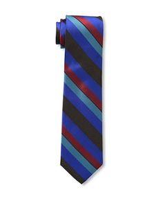 47% OFF Ben Sherman Men's Wide Stripe Tie, Cobalt