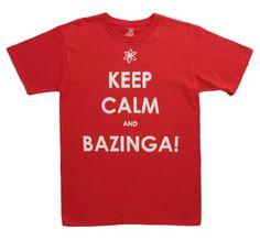 The Big Bang Theory Keep Calm and Bazinga Mens Tee « Clothing Impulse