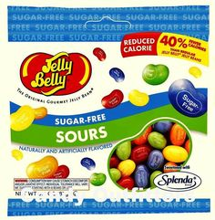 JELLY BELLY SUGAR FREE SOURS JELLY BEANS CANDY - 1 Bag - Sour Sugarfree Candies #JellyBelly
