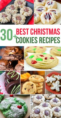 Best Christmas Cookies Recipes Need a new cookie recipe? Try this mouth watering list of best Christmas cookies recipes to try this holiday season and add a new recipe to your family favorites. Easy Holiday Cookies, Best Christmas Cookie Recipe, Holiday Cookie Recipes, Holiday Baking, Christmas Desserts, Christmas Treats, Christmas Baking, Holiday Treats, Christmas Fun