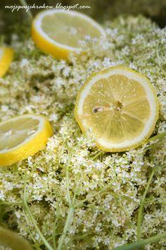 syrop z kwiatów czarnego bzu Yummy Eats, Food Design, Geraniums, Food And Drink, Herbs, Fruit, Drinks, Nature, Snacks Ideas