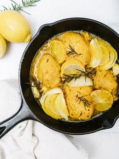 Detox Lemon Garlic Chicken with Turmeric - The Effortless Chic