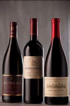 Winners of the  RE:CM 10 YEAR OLD WINE AWARDS – Boekenhoutskloof Syrah 2003, Remhoogte Estate Wine 2003 and Rudera Syrah 2003