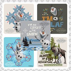 OLAF Snow Stickers  Envelope Seals Favours by michelleandmickey