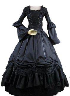 Lanrui Gothic Queen Prinzessin Lolita Ballkleid Abend-Kleid Victoria Dress Cosplay Kostüme Costume nach Maß
