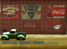 Sims 3 Finds - Vintage painted wall advertising at Cloudwalker Sims