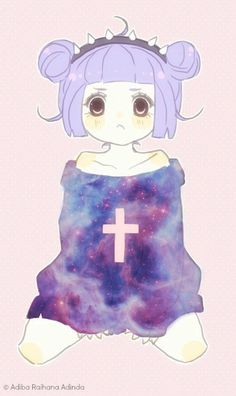 Image via We Heart It https://weheartit.com/entry/150101838 #anime #cute #galaxy #girl #goth #pastel #pastelgoth