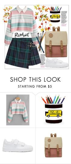 """""""Romwe.Drop Shoulder Striped Crop Pullover"""" by natalyapril1976 on Polyvore featuring Burberry and Jil Sander"""